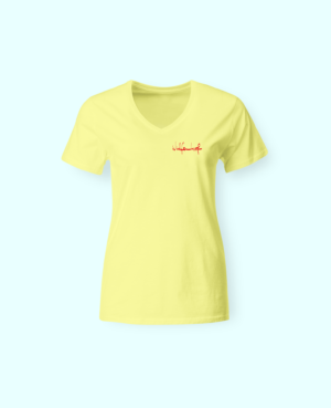 Frauen-turnier-tshirt-gelb